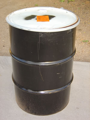 55 Gallon Metal Barrel/Drum Open Top - Side View