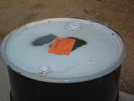 55 Gallon Metal Barrel/Drum Open Top - Top View