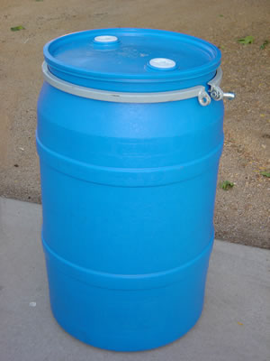 55 Gallon Barrel/Drum Open Top - Side View