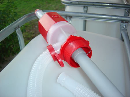 Plastic Siphon - Threaded View